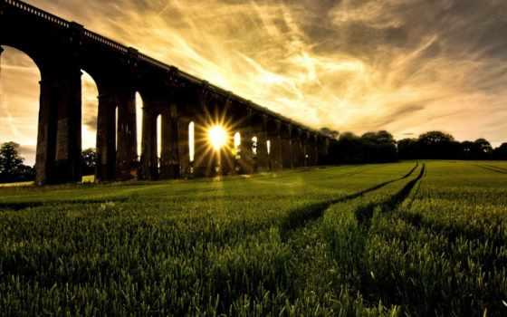 очень, город, красивый, виадук, небо, мийо, февр, french, природа, margin, осень,