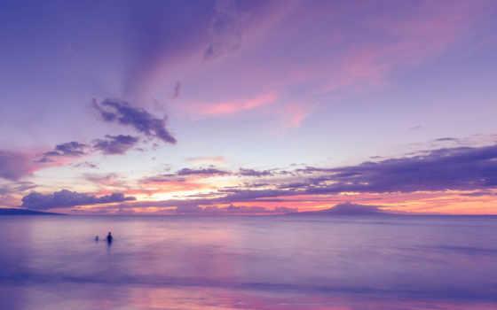 море, небо, природа