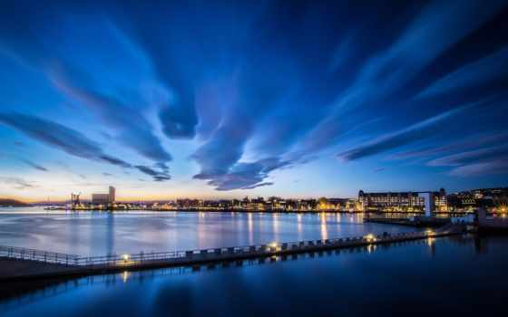 ciudad, amanecer, cielo, thermal, pantalla, сол, fondo, paisaje, sobre, закат,