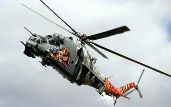 ми, вертолет, hind, helicóptero, mil, desktop, helicoptero, impresión,