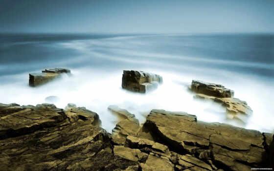 скалы, море, моря