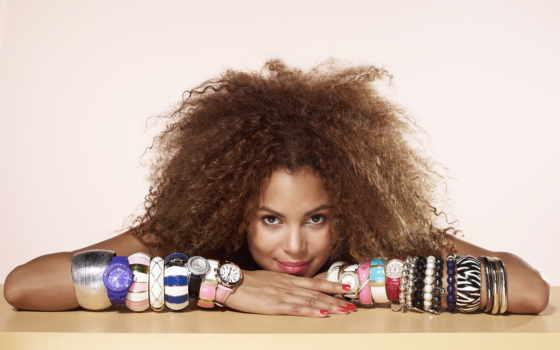 браслеты, девушка, часы