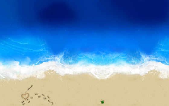 пляж, love