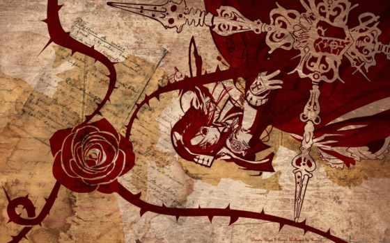 trinity, кровь, anime