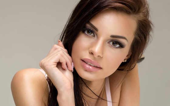 макияж, глаз, карих, natural, свет, дневной,