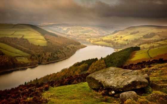 природа, город, landscape, портал, река, hills, rutor,