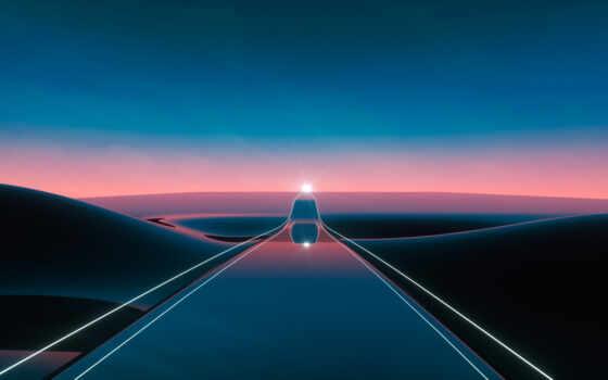 современный, highway, ретро, art, экран, resolution