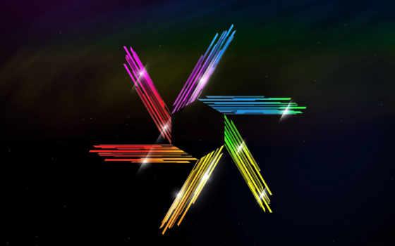 кристаллы, hexagon, звезды