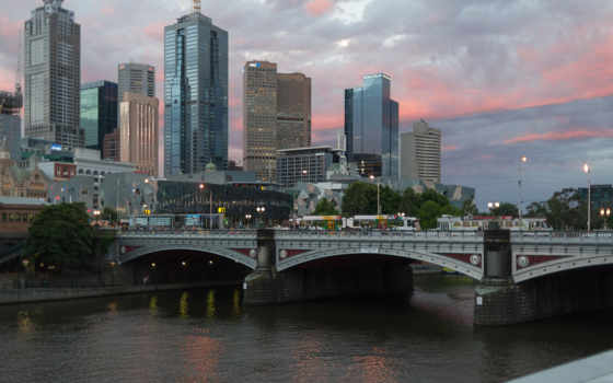 melbourne, город, австралия