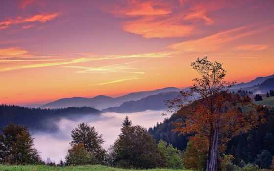 природа, осень, горы