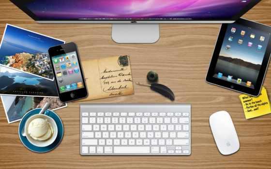 apple, iphone, ipad, mac, фото, письмо, мороженое, перо, ложка, блюдце
