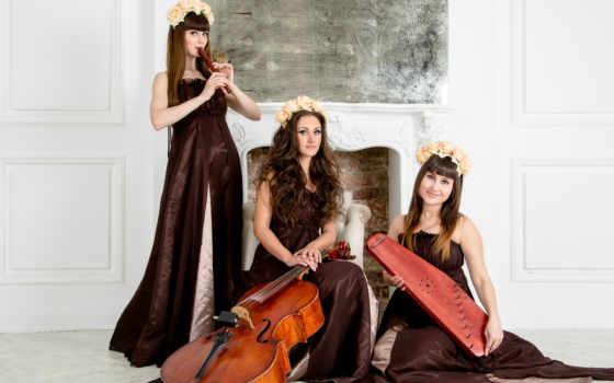 devushki, виолончель, трио