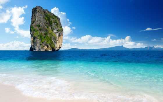 остров, koh, poda, пляж, пхукет, таиланд, сторона, день, путешествия,