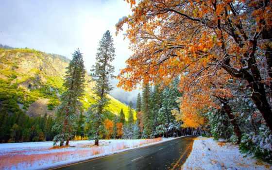 neige, fonds, ecran, route, природа, like, hiver, fond, automne, adnanoktar,