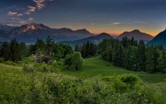 альпы, summer, verdant, франция, горы, картинках, яndex, франции, летом, природа,