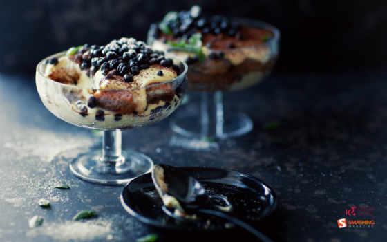 десерт, черника, ягода, meal