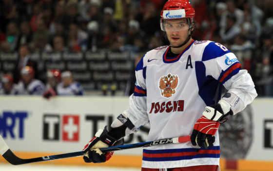 hockey, ovechkin, alexander, sport, клюшка, сборная, россии, шлем, лед, форма, герб,