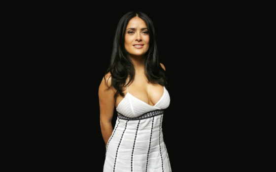 hayek, salma, платье