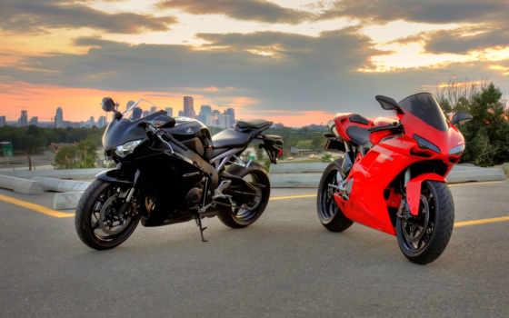 ducati, red, black
