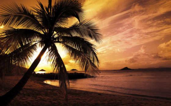 słońca, zachód, fototapeta