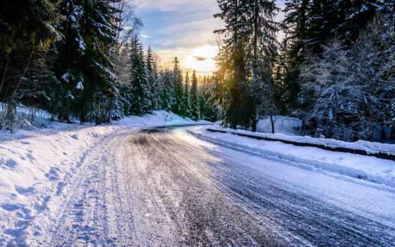 fondos, invierno, pantalla, дорога, para, fotos, paisaje, тюнинга, paisajes,