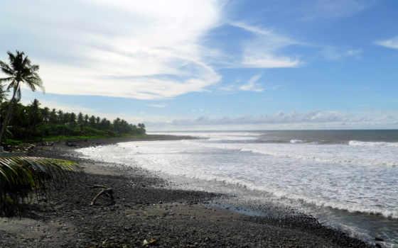 ocean, imágenes, пляж, вануату, галька, islands,