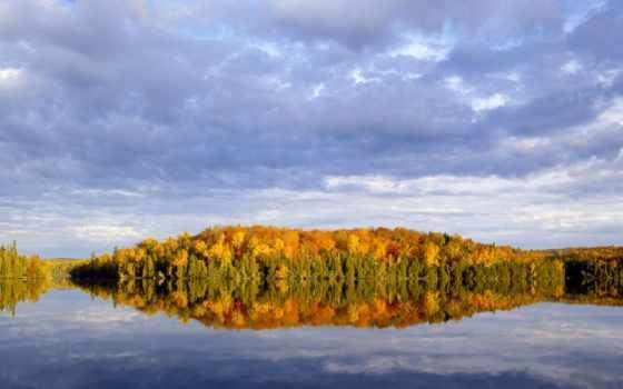 minnesota, природа, superior, озеро, лес, national, осень, reflections,