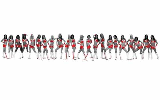 lei, high, definition, widescreen, девушек, группы, разных,