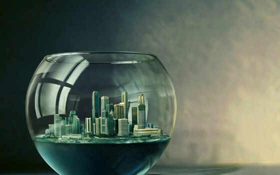 glass, world