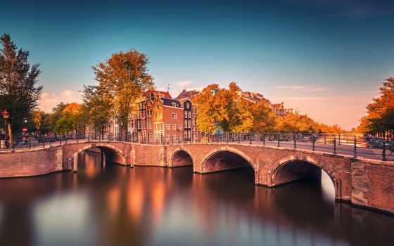 amsterdam, iphone, holland, город, мост, теме,