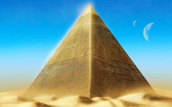 пирамиды, пирамида, люди, фантастика,
