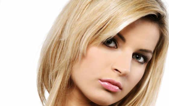 зеленоглазая, blonde, лицо, взгляд,