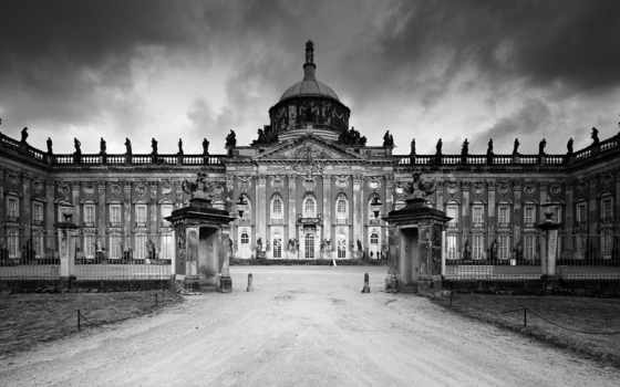 дворец, potsdam, new, германия,