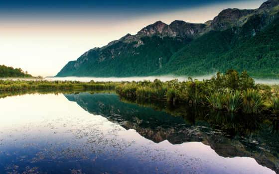коллекция, озеро, природа, гора, качество, хороший, туман, уж, best, loaded