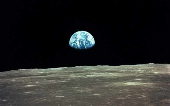 moon, earth