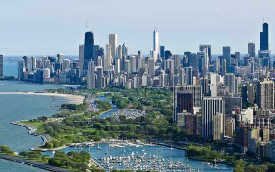 город, chicago, взгляд