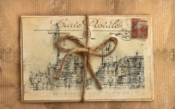 vintage, ретро, открытки, веревка, роза, postcard, цветы,