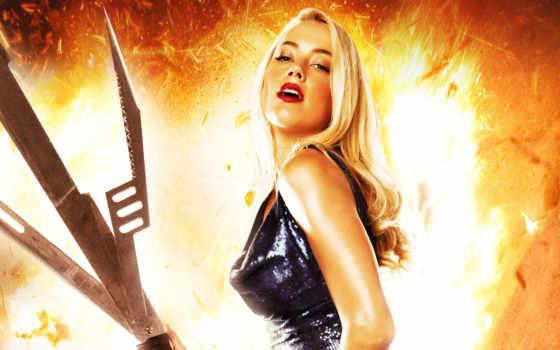 machete, kills, amber, heard, убивает, изображение, blonde,