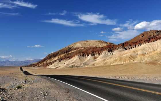 desierto, carretera, del, paisajes, pantalla, fondos, naturaleza, carreteras, fondo, través,