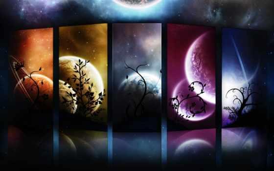 планеты, cosmos, фотоколлаж, universe, фоны,