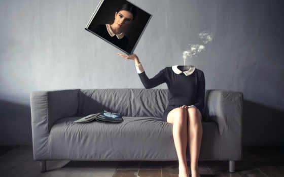 девушка, диван, креатив, portrait, фото, картинка