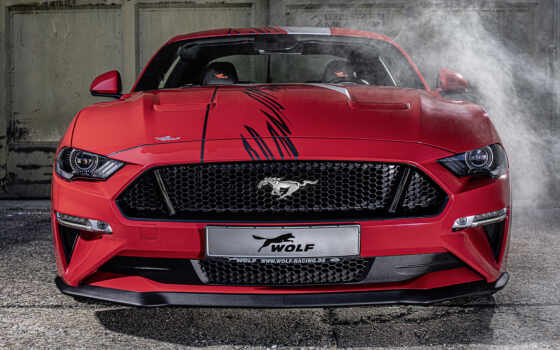 ford, mustang, волк, car, race, one