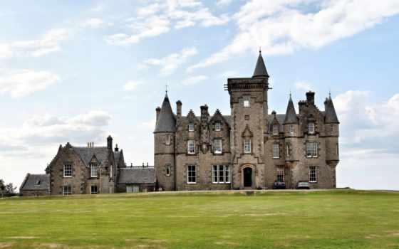 шотландия, замки, города, замок, hill, castle,