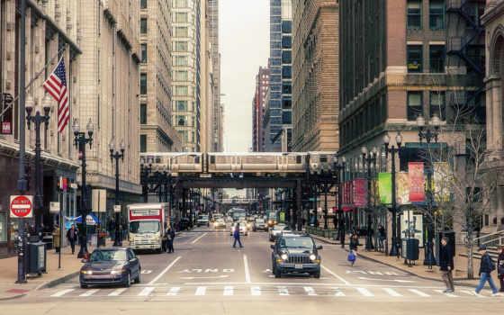 chicago, небоскребы, usa