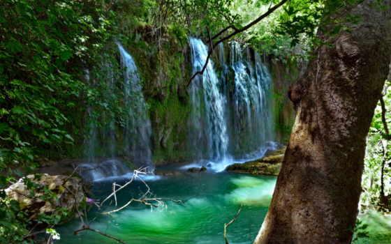 водопады, wasserfall, куршунлу