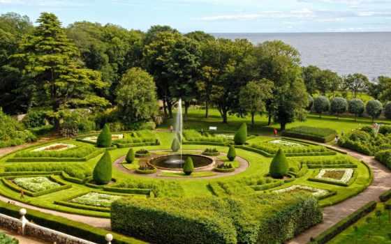 dunrobin, castle, gardens, ук, шотландия, sutherland, mapio, парки,