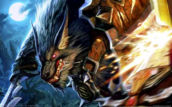 warcraft, art, worgen, воин, world, fantasy, wow