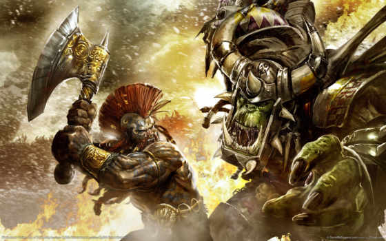 warhammer, online, games, reckoning, game, battles, против, игры, орк, battle, age, fantasy, орка, монстра, gallery, гном,