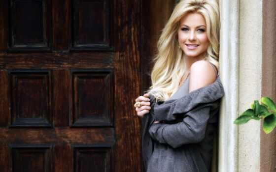хаф, джулианна, blondinka, улыбка, стоят, дверь, stil,