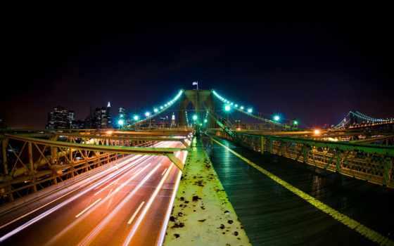мост, дорога, красивый